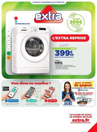 Extra catalogue publicitaire (valable jusqu'au 30-10)