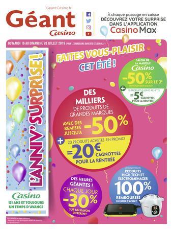 Géant Casino catalogue publicitaire (valable jusqu'au 28-07)