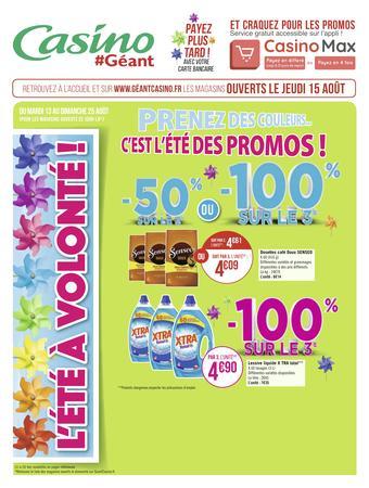 Géant Casino catalogue publicitaire (valable jusqu'au 25-08)
