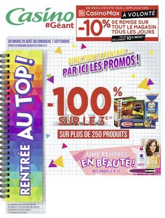 Géant Casino catalogue publicitaire (valable jusqu'au 01-09)
