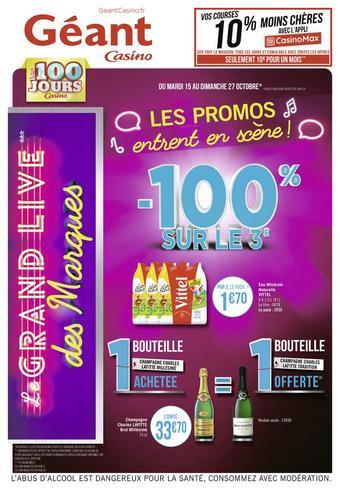 Géant Casino catalogue publicitaire (valable jusqu'au 27-10)