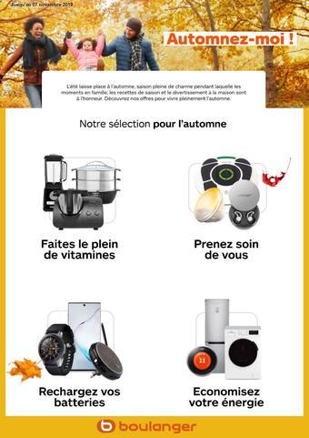 Boulanger catalogue publicitaire (valable jusqu'au 07-11)