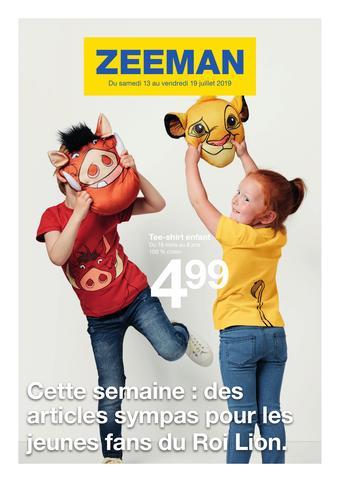 Zeeman catalogue publicitaire (valable jusqu'au 19-07)