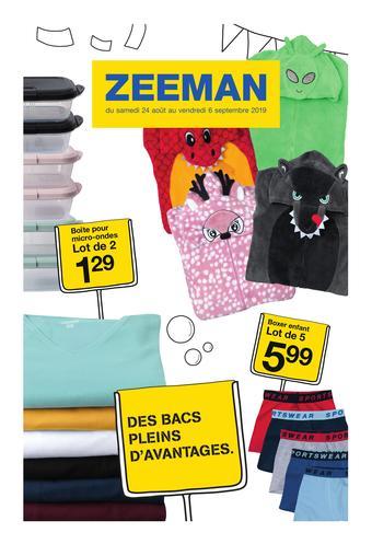 Zeeman catalogue publicitaire (valable jusqu'au 06-09)