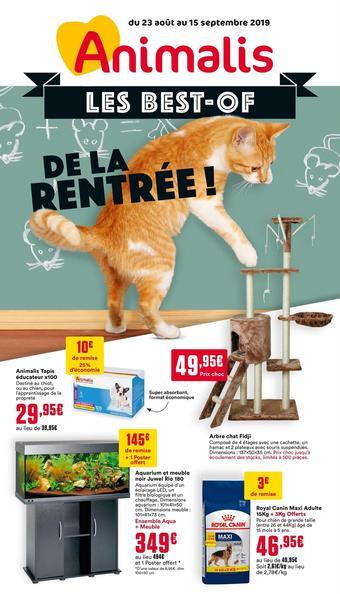 Animalis catalogue publicitaire (valable jusqu'au 15-09)