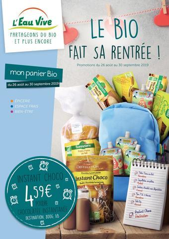 L'Eau Vive catalogue publicitaire (valable jusqu'au 30-09)