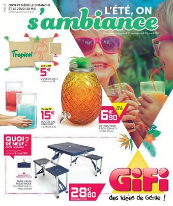 Gifi catalogue publicitaire (valable jusqu'au 29-05)