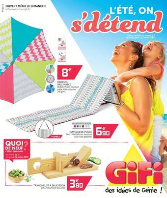 Gifi catalogue publicitaire (valable jusqu'au 31-07)