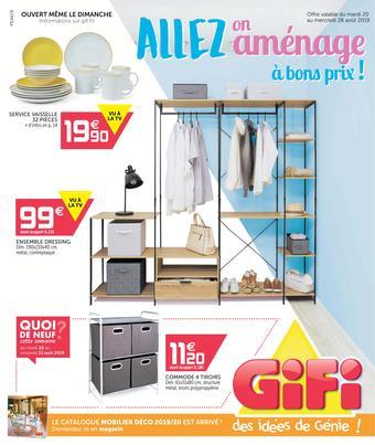 Gifi catalogue publicitaire (valable jusqu'au 28-08)