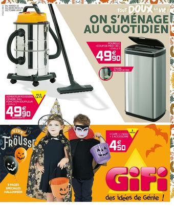 Gifi catalogue publicitaire (valable jusqu'au 23-10)