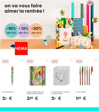 HEMA catalogue publicitaire (valable jusqu'au 23-09)