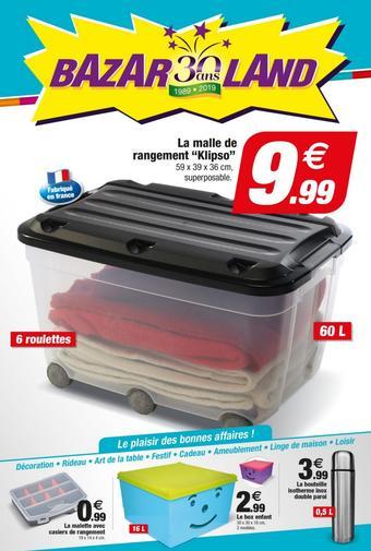 Bazarland catalogue publicitaire (valable jusqu'au 30-06)