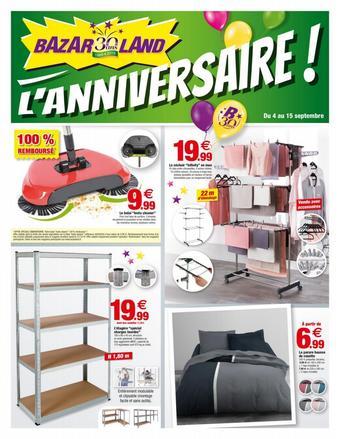 Bazarland catalogue publicitaire (valable jusqu'au 29-09)