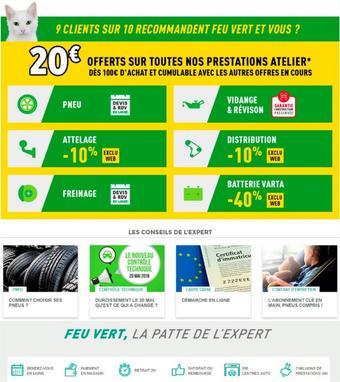 Feu Vert catalogue publicitaire (valable jusqu'au 11-06)