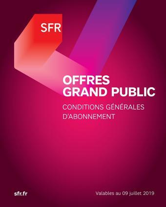 SFR catalogue publicitaire (valable jusqu'au 09-08)