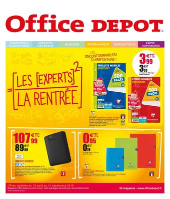 Office Depot catalogue publicitaire (valable jusqu'au 11-09)