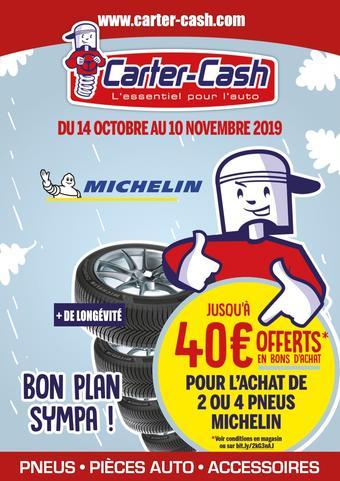 Carter-Cash catalogue publicitaire (valable jusqu'au 10-11)