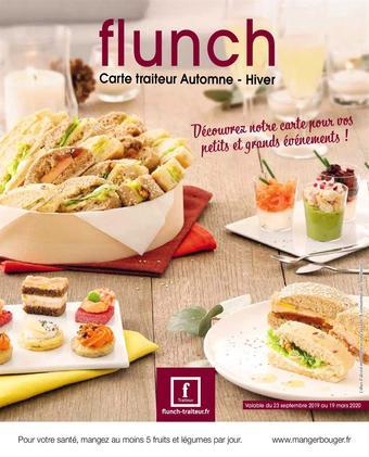 Flunch catalogue publicitaire (valable jusqu'au 19-03)