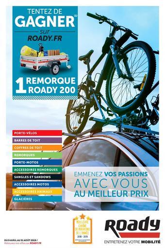 Roady catalogue publicitaire (valable jusqu'au 31-08)