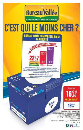 Bureau Vallée catalogue publicitaire (valable jusqu'au 16-06)