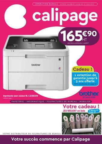 Calipage catalogue publicitaire (valable jusqu'au 30-06)