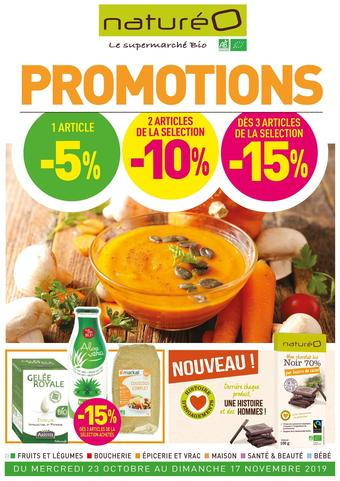 naturéO catalogue publicitaire (valable jusqu'au 17-11)