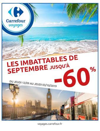Carrefour Voyages catalogue publicitaire (valable jusqu'au 03-10)