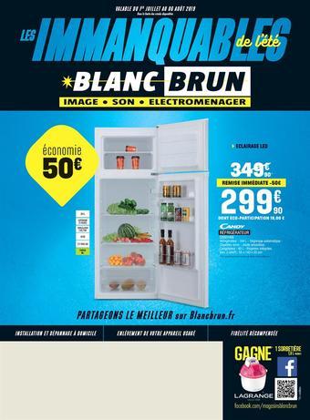 Blanc Brun catalogue publicitaire (valable jusqu'au 06-08)
