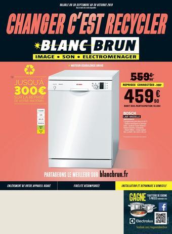 Blanc Brun catalogue publicitaire (valable jusqu'au 30-10)