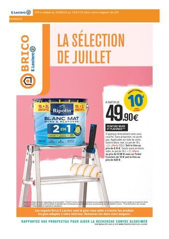 E.Leclerc Brico catalogue publicitaire (valable jusqu'au 13-07)