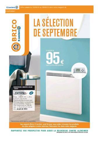 E.Leclerc Brico catalogue publicitaire (valable jusqu'au 28-09)