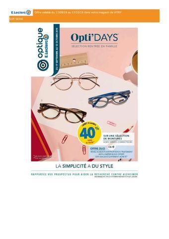 E.Leclerc Optique catalogue publicitaire (valable jusqu'au 12-10)