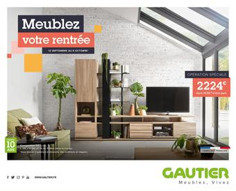 Gautier catalogue publicitaire (valable jusqu'au 06-10)