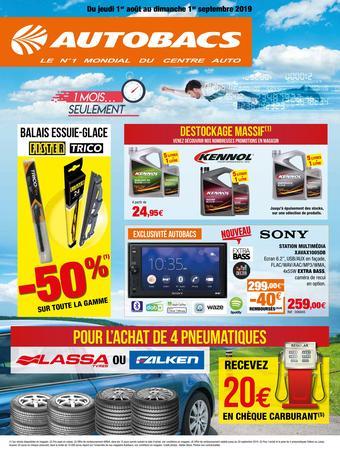 Autobacs catalogue publicitaire (valable jusqu'au 01-09)