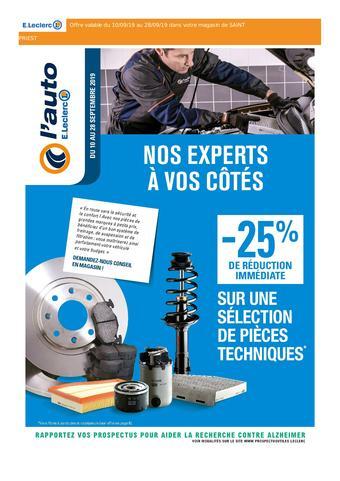 E.Leclerc L'Auto catalogue publicitaire (valable jusqu'au 28-09)