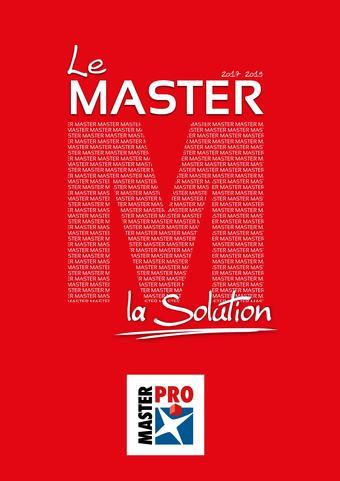 Master Pro catalogue publicitaire (valable jusqu'au 31-12)