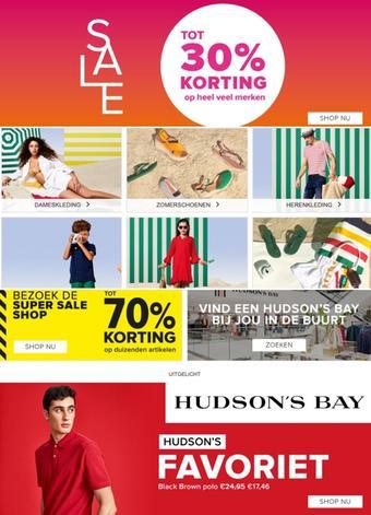 Hudson's Bay reclame folder (geldig t/m 27-06)