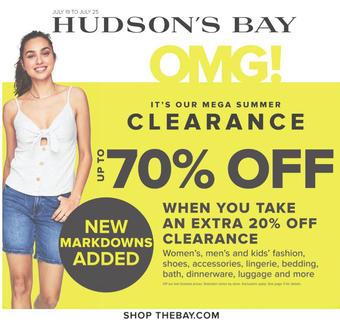 Hudson's Bay reclame folder (geldig t/m 25-07)