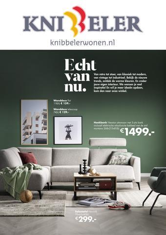 Knibbeler Meubelen reclame folder (geldig t/m 15-09)