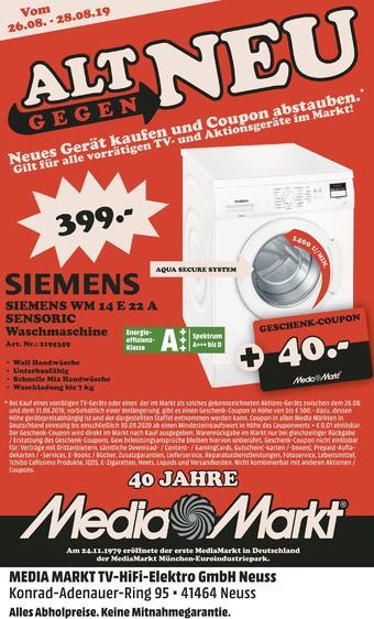 Media Markt Prospekt (bis einschl. 28-08)