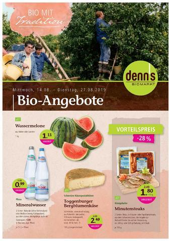 denn's Biomarkt Prospekt (bis einschl. 27-08)