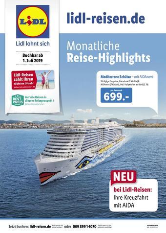 Lidl Reisen Prospekt (bis einschl. 30-09)