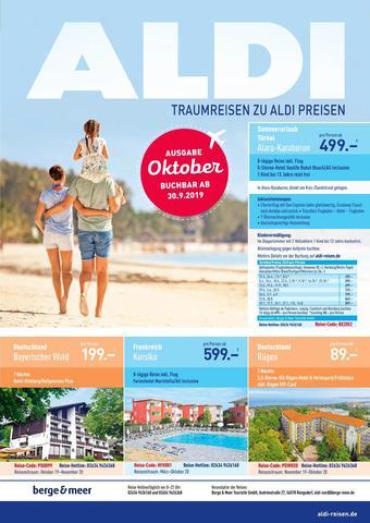 ALDI Nord Reisen Prospekt (bis einschl. 31-10)