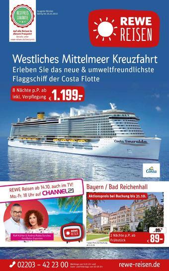 REWE Reisen Prospekt (bis einschl. 25-10)