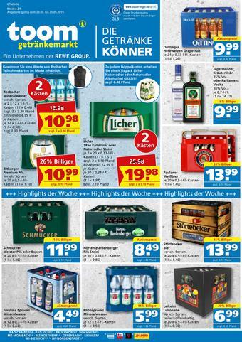 toom Getränkemarkt Prospekt (bis einschl. 25-05)