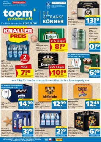 toom Getränkemarkt Prospekt (bis einschl. 29-06)