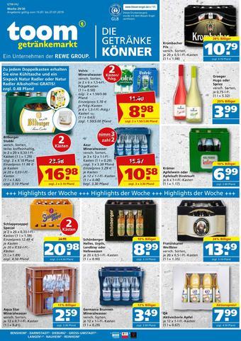 toom Getränkemarkt Prospekt (bis einschl. 27-07)