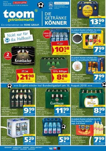 toom Getränkemarkt Prospekt (bis einschl. 24-08)