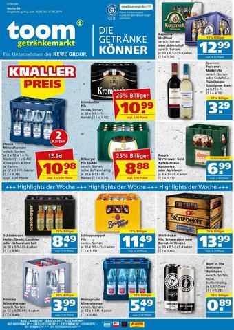 toom Getränkemarkt Prospekt (bis einschl. 21-09)