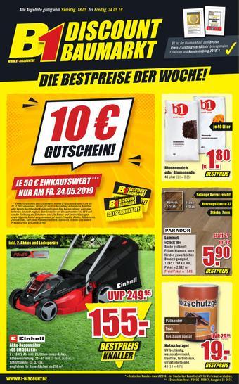 B1 Discount Baumarkt Prospekt (bis einschl. 24-05)